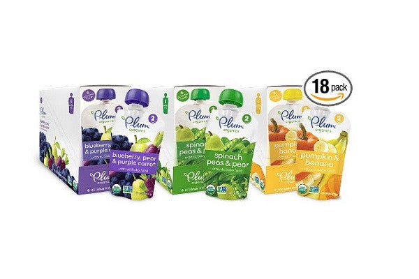 Plum Organics Second Blends Variety Pack - No artificial flavors or artificial sweeteners