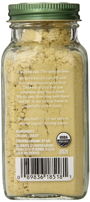 Simply Organic Ginger Root Ground - 1% of sales supports organic farming