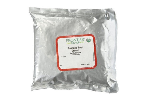 Frontier Turmeric Root Powder Organic Fair Trade Certified, 1 lb - Low sodium - SustainTheFuture.us - The Natural and Organic Way of Life