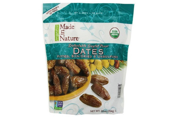 Made in Nature Organic Sun-Dried Deglet Noor Dates, Pitted, 28 Ounce - SustainTheFuture.us - The Natural and Organic Way of Life