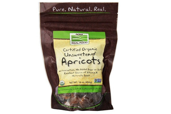 Now Foods Organic Apricots Unsweet/Unsulfur - Naturally Sweet No Sugar
