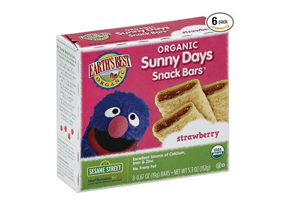 Earth's Best Organic Sunny Days Snack Bars, Strawberry (Pack of 6) - No artificial - SustainTheFuture.us - The Natural and Organic Way of Life