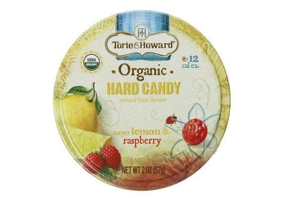 Torie and Howard Organic Hard Candy Lemon and Raspberry, 2 Ounce - Kosher