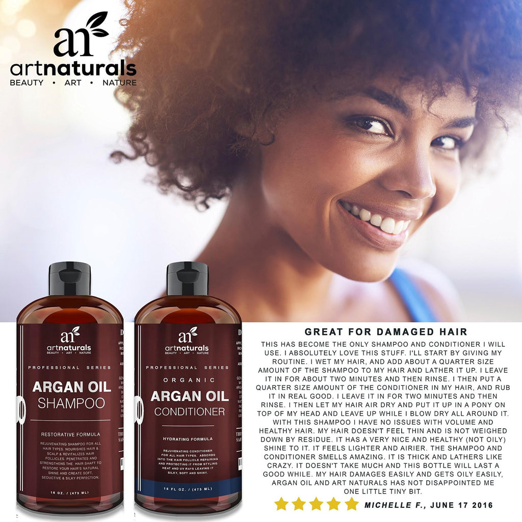 Art Naturals® Organic Moroccan Argan Oil Shampoo and Conditioner - SustainTheFuture.us - The Natural and Organic Way of Life