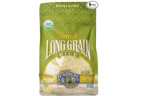 Lundberg Organic Long Grain Rice, Brown, 32 Ounce (Pack of 6) - Gluten free - SustainTheFuture.us - The Natural and Organic Way of Life