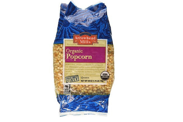 Arrowhead Mills Organic Yellow Popcorn - 28 oz - Excellent Source of Fiber - SustainTheFuture.us - The Natural and Organic Way of Life