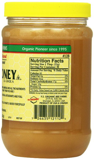 Y.S. Eco Bee Farms Raw Honey - Does Not Contain: Pesticide, herbicide, pollutant