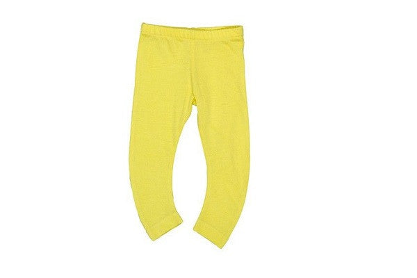IMPS & ELFS ORGANIC COTTON YELLOW LEGGINGS - Soft Organic Cotton Pant