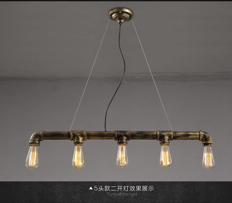 American industrial Pendant Lights creative personality cafe loft retro decorative wrought iron lamps Edison LED bulb lighting