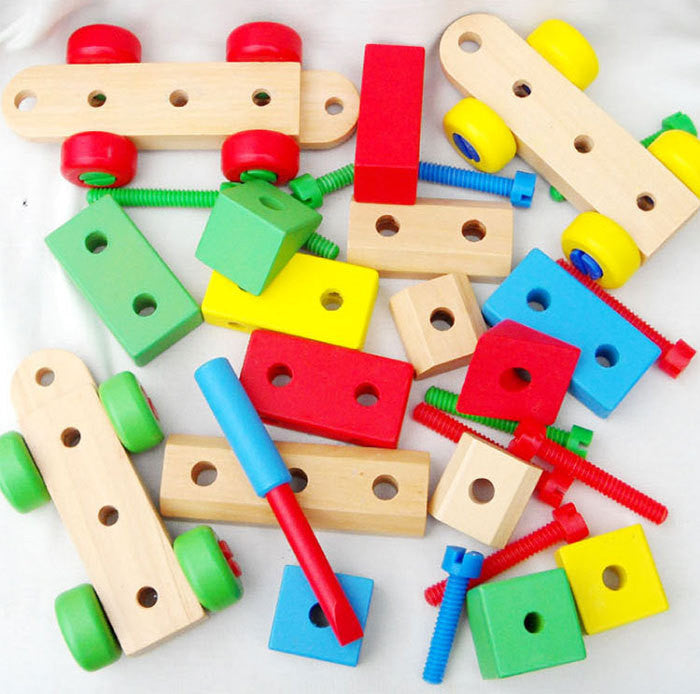 2015 Hot Sale Children's Educational Building Blocks Toys Three Removable Wooden Train Set Toy Blocks Train Wooden Toys HT2379