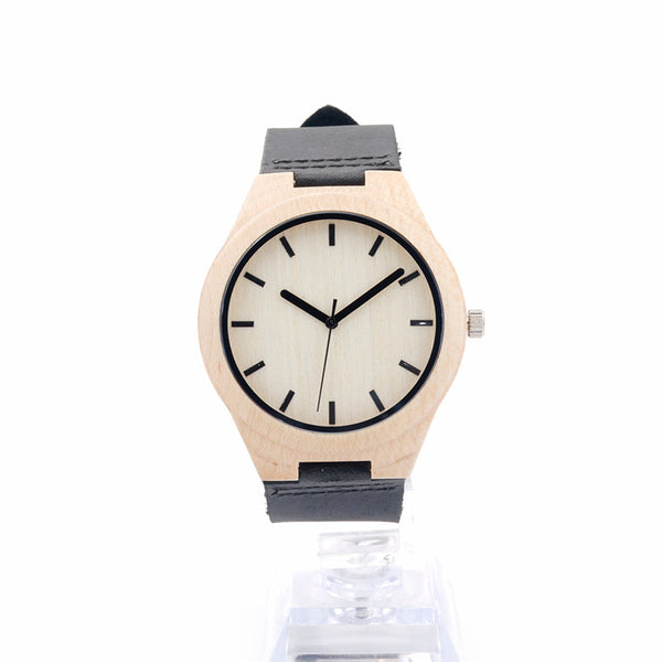 2016 Maple Wooden Watches Mens Luxury Top Brand  Fashion Unisex Brown Leather Quartz Watch Women Casual Wrist watch
