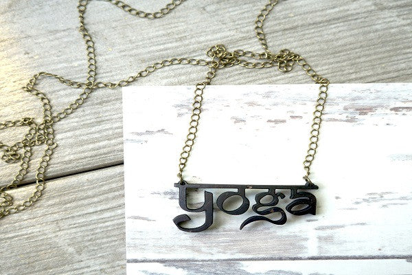YOGA CHAIN NECKLACE. Chain Size: 30 Inches long
