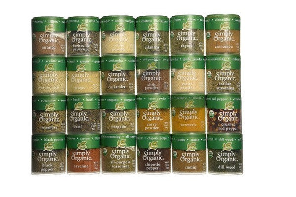 Ultimate Organic Starter Spice Gift Set - Top 24 Organic Spices - Top 24