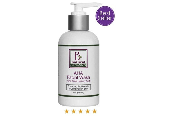 AHA FACIAL WASH - 6 OZ - Aids in the removal of stubborn debris from pores - SustainTheFuture.us - The Natural and Organic Way of Life