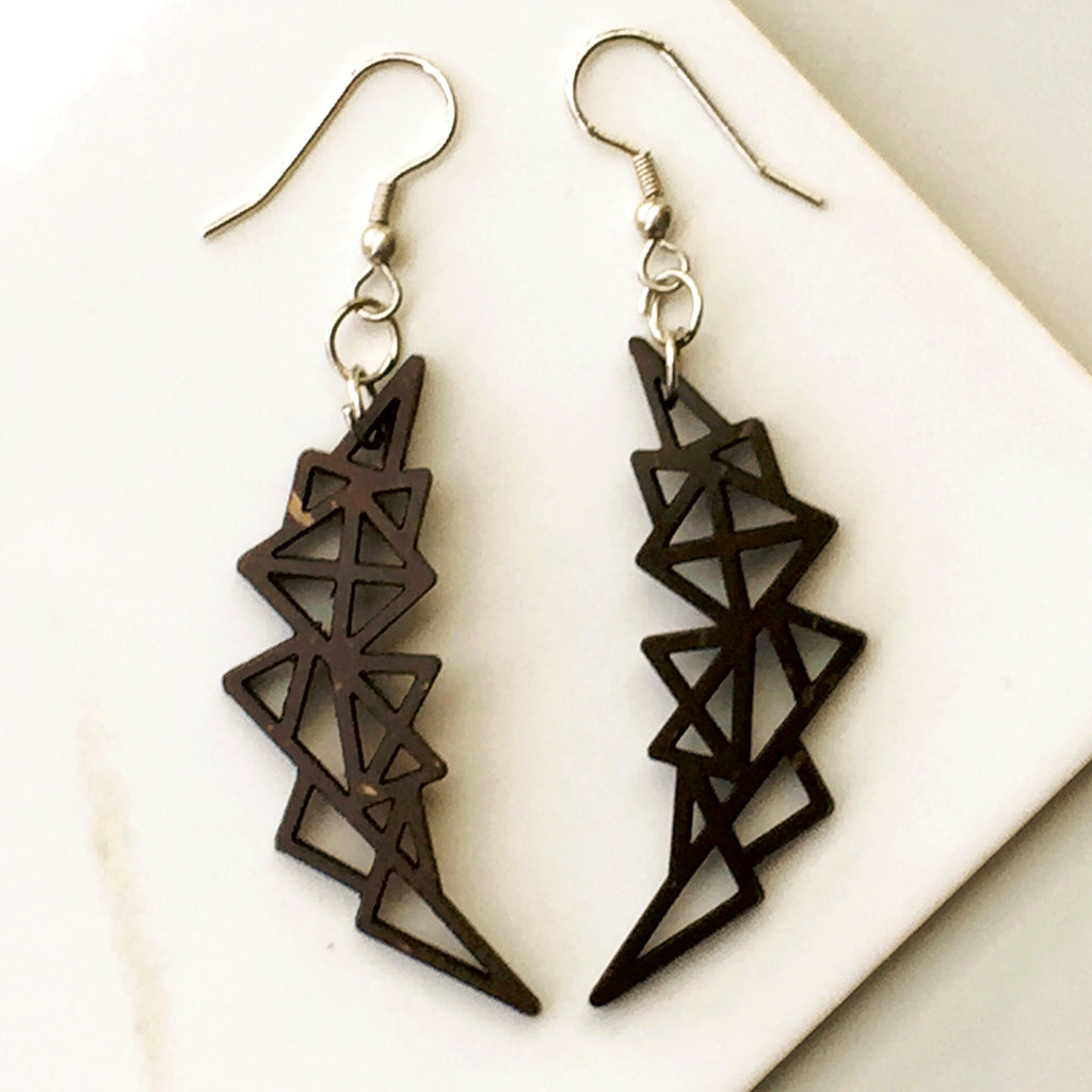 ABSTRACT GEOMETRIC EARRINGS. Nickle Free - SustainTheFuture.us - The Natural and Organic Way of Life