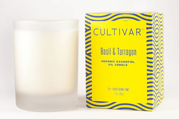 Basil And Tarragon Soy Candle - 100% non-gmo soy wax, basil and tarragon essential oils* *certified organic - SustainTheFuture.us - The Natural and Organic Way of Life