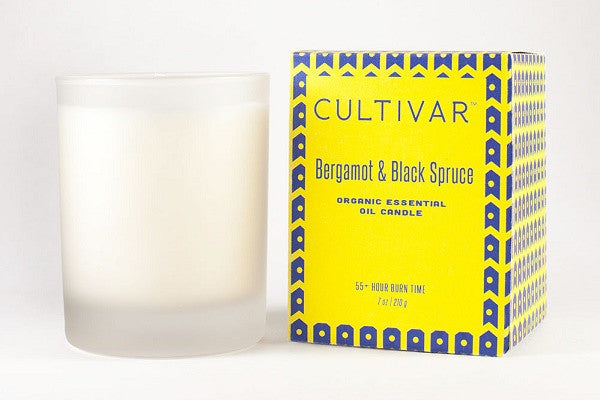 Bergamot & Black Spruce Soy Candle - 100% Soy wax, bergamot and black spruce essential oils* *certified organic - SustainTheFuture.us - The Natural and Organic Way of Life