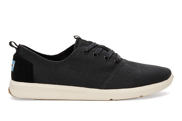 BLACK BURLAP MEN'S DEL REY SNEAKERS - SustainTheFuture.us - The Natural and Organic Way of Life