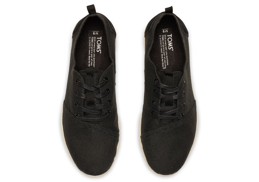 BLACK BURLAP MEN'S DEL REY SNEAKERS