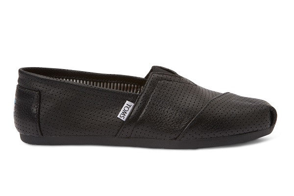 BLACK PERFORATED LEATHER MEN'S CLASSICS - SustainTheFuture.us - The Natural and Organic Way of Life