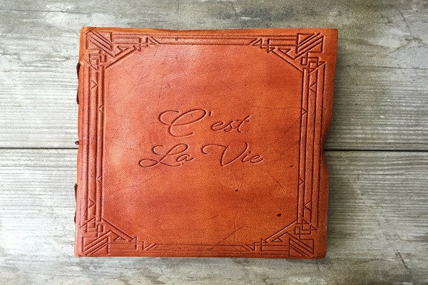 """C'EST LA VIE"" HANDMADE LEATHER JOURNAL - SustainTheFuture.us - The Natural and Organic Way of Life"