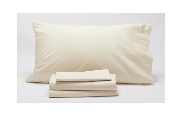 300 Percale 300 Thread Count 3 Piece Sheet Set - Cotton is sourced and woven in India - SustainTheFuture.us - The Natural and Organic Way of Life