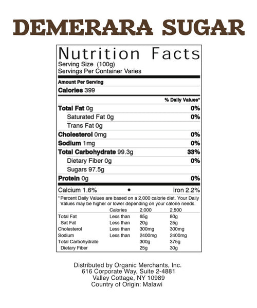 Demerara Sugar - 50lb Bag - Kosher, NON GMO, Gluten Free - SustainTheFuture.us - The Natural and Organic Way of Life
