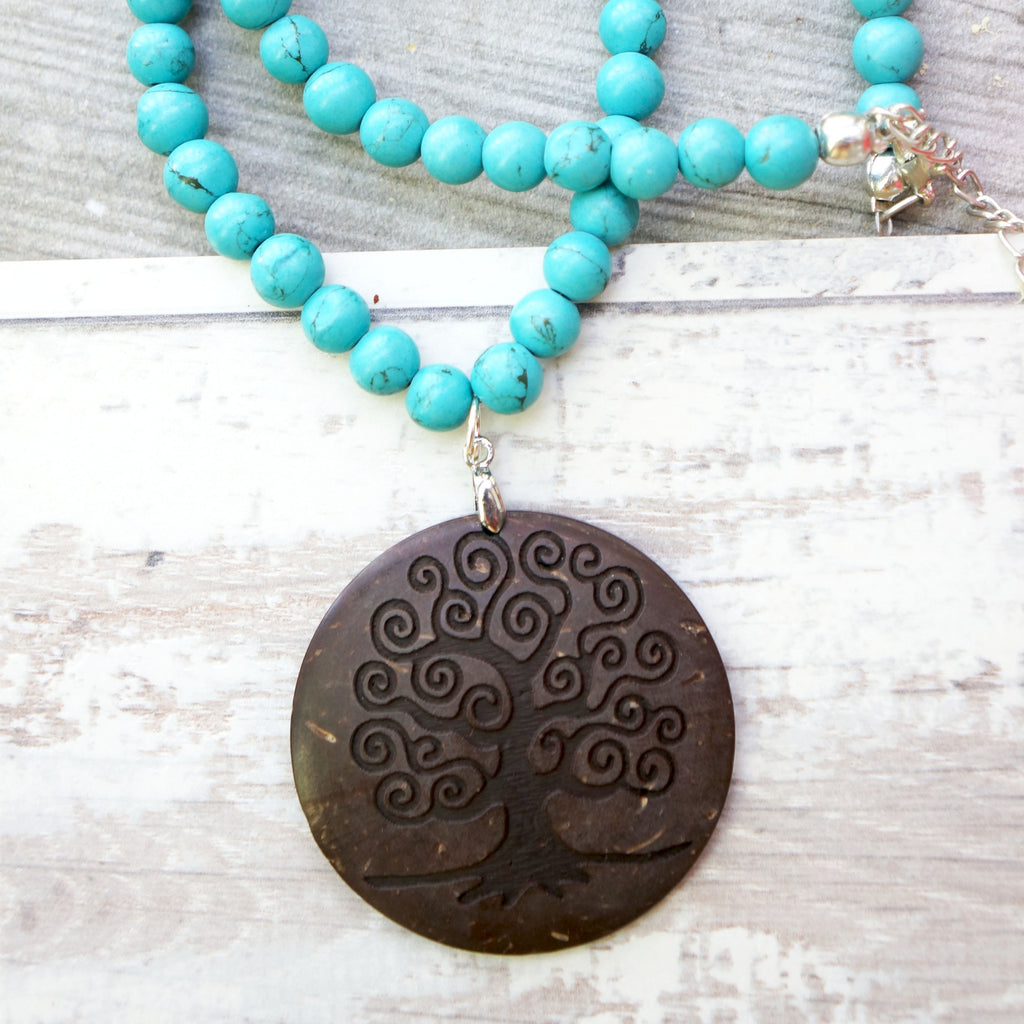 ROUND TREE OF LIFE PENDANT NECKLACE