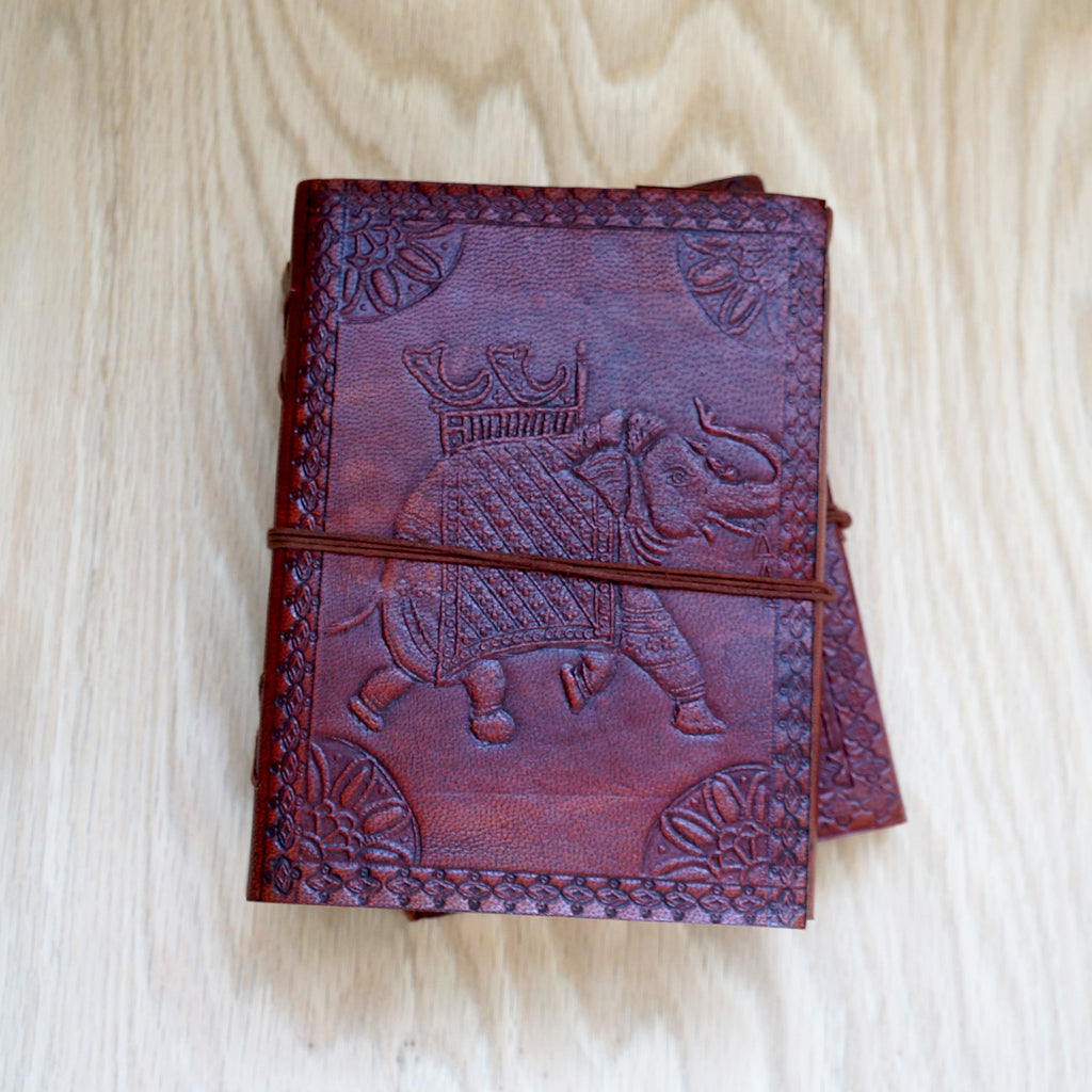 Elephant Handmade Leather Journal - SustainTheFuture.us - The Natural and Organic Way of Life