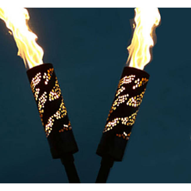Plasma Cut Natural Gas or Propane Tiki Torch By Focus Industries