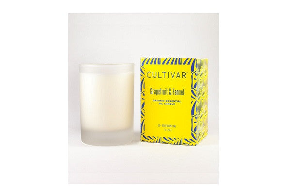 Grapefruit And Fennel Soy Candle - Essential Oil Candle in eco friendly packaging - SustainTheFuture.us - The Natural and Organic Way of Life