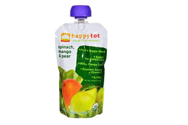 Happy Baby Happytot Organic Superfoods Spinach Mango And Pear - 4.22 Oz - SustainTheFuture.us - The Natural and Organic Way of Life