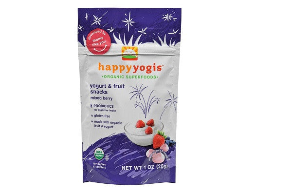 Happy Baby Happy Yogis Organic Superfoods Yogurt & Fruit Snacks, Mixed Berry - SustainTheFuture.us - The Natural and Organic Way of Life