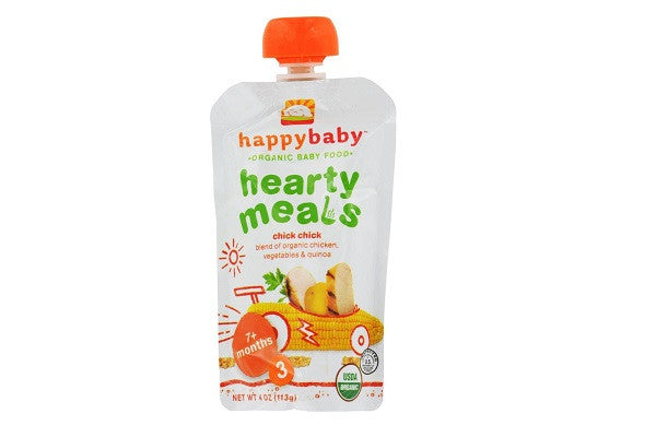 Happy Baby Organic Baby Food Stage 3 Chick Chick - 4 Oz - Case Of 16 - USDA Organic