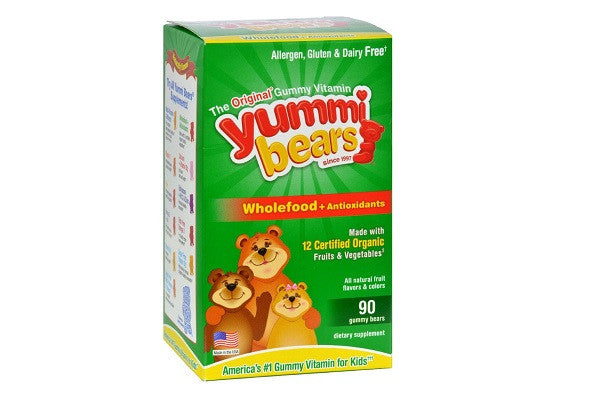 Hero Nutritionals Yummi Bears Whole Food Supplement For Kids - 90 - SustainTheFuture.us - The Natural and Organic Way of Life