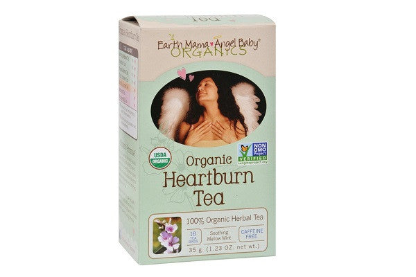 Earth Mama Angel Baby Organic Heartburn Tea - 16 Tea Bags - USDA Certified - SustainTheFuture.us - The Natural and Organic Way of Life