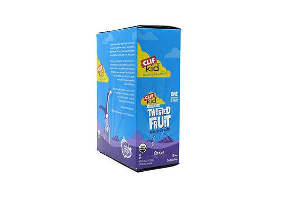Clif Bar Kid Zfruit - Organic Grape Case Of 18 - .7 Oz Twist together a few smiles with this totally grape