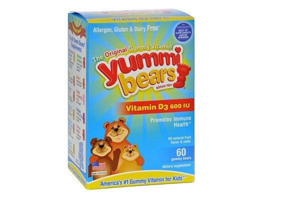 Hero Nutritionals Yummi Bears Gummy Vitamins For Children With Vitamind-3 - SustainTheFuture.us - The Natural and Organic Way of Life