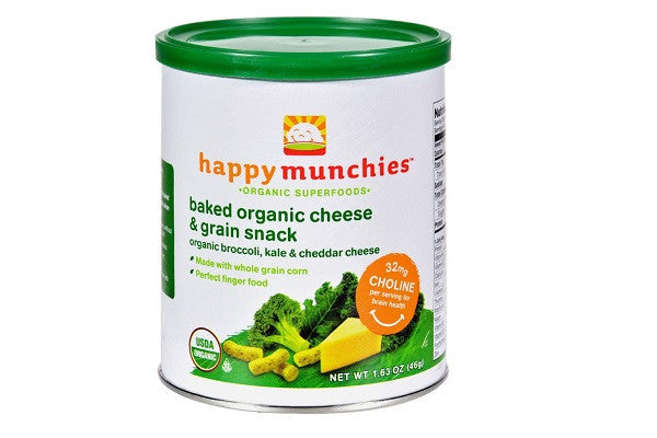 Happy Baby Happy Munchies Baked Organic Snacks - Cheese & Veggie - SustainTheFuture.us - The Natural and Organic Way of Life