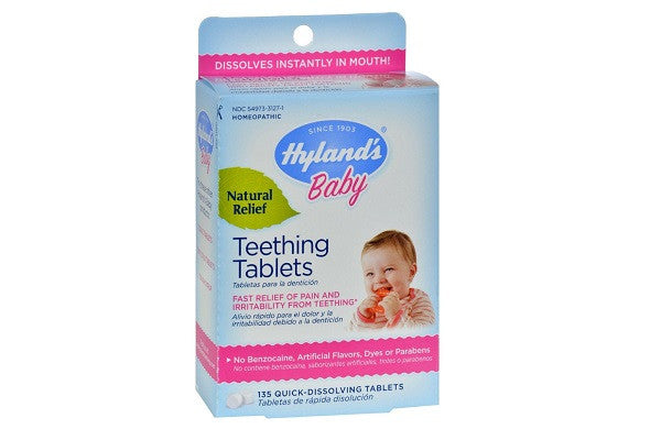 Hyland's Teething Tablets - 135 Tablets - No Artificial Flavors, Dyes or Parabens - SustainTheFuture.us - The Natural and Organic Way of Life