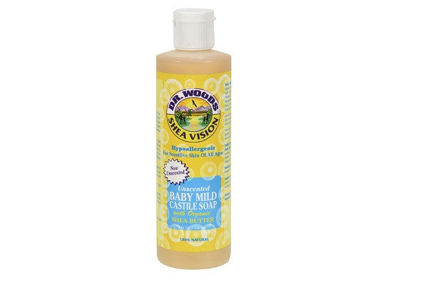 Dr. Woods Shea Vision Pure Castile Soap Baby Mild With Organic Shea Butter - 8 Fl Oz - SustainTheFuture.us - The Natural and Organic Way of Life