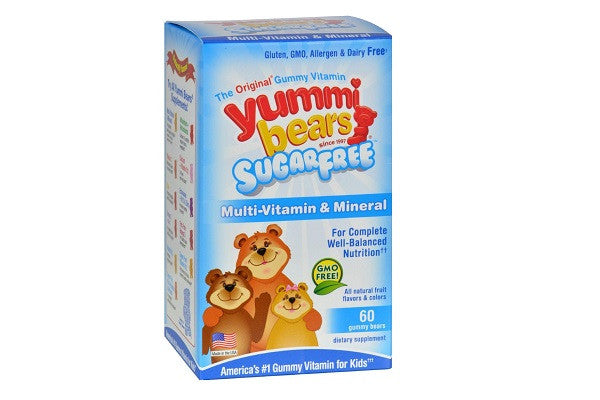 Hero Nutritionals Yummi Bears Multi-vitamin & Mineral Sugar Free - 60 Yummi - SustainTheFuture.us - The Natural and Organic Way of Life