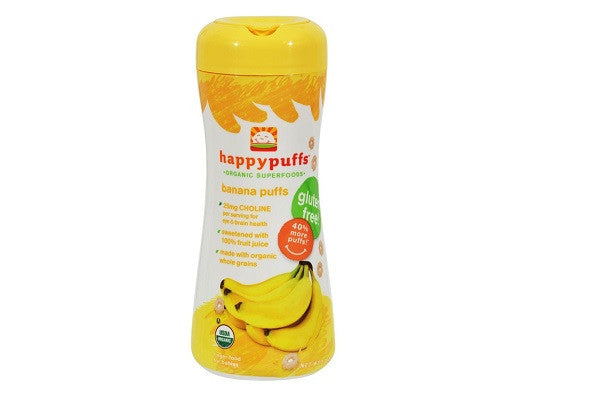 Happy Baby Organic Puffs Banana - 2.1 Oz - Case Of 6 - Sweetened with 100% Fruit Juice - SustainTheFuture.us - The Natural and Organic Way of Life