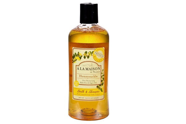 A La Maison Shower Gel Honeysuckle - 16.9 Oz - French triple milled soap - SustainTheFuture.us - The Natural and Organic Way of Life