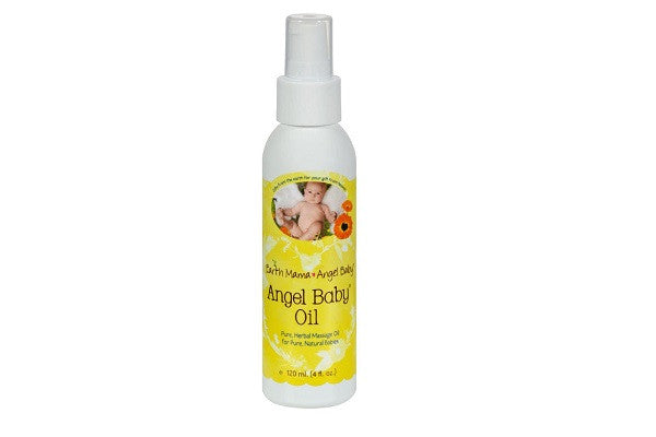 Earth Mama Angel Baby Oil - 4 Oz - 100% natural Angel Baby Oil soothes sensitive skin - SustainTheFuture.us - The Natural and Organic Way of Life