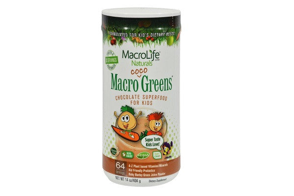 Macrolife Naturals Jr. Macro Coco-greens For Kids Chocolate - 14 Oz - Vegan - SustainTheFuture.us - The Natural and Organic Way of Life