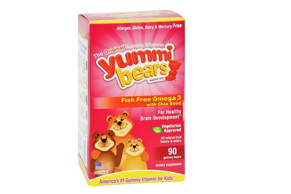 Hero Nutritionals Yummi Bear - Omega 3-6-9 - 90 Count - Allergen and gluten - SustainTheFuture.us - The Natural and Organic Way of Life
