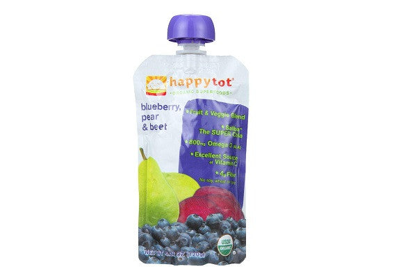 Happy Tot Toddler Food - Organic - Stage 4 - Blueberry Pear And Beet - SustainTheFuture.us - The Natural and Organic Way of Life