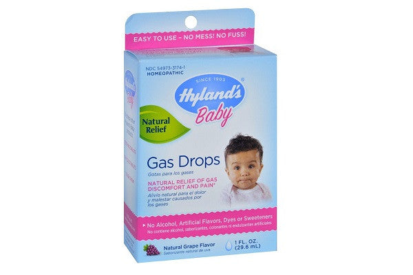 Hylands Homeopathic Baby Gas Drops - 1oz - Natural grape flavored drops soothe - SustainTheFuture.us - The Natural and Organic Way of Life