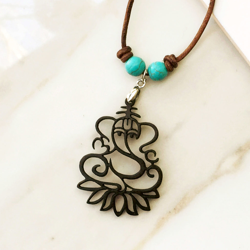 GANESHA - YOGA NECKLACE. the Indian symbol of intellect and wisdom - SustainTheFuture.us - The Natural and Organic Way of Life